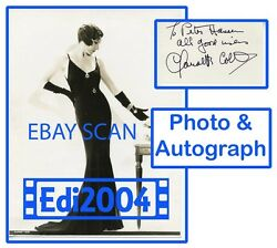 Claudette Colbert Vintage Original Very Rare 1920's Photo Sexy And Autograph Card