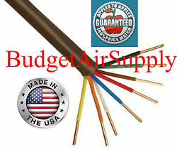 Thermostat Wire 18/8 X 25ft 18 Gauge 8 Wire Conductor