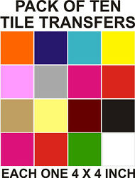 4 Tile Transfers Stickers 1020304050100200 Your Choice Of Colours