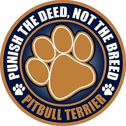 PITBULL TERRIER PUNISH THE DEED NOT THE BREED 4
