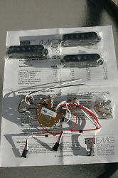 EMG SV Active Pickup Set in Black NOS! NEW! PROJECT! Pre-made harness