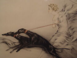 Original Louis Icart Authentic 1927 Etching Speed Pencil Signed Artist Proof
