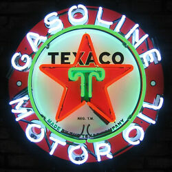 Lot Of 6 Neon Sign Oil Gas Gasoline Texaco Red Indian Sky Chief Flying A Polly