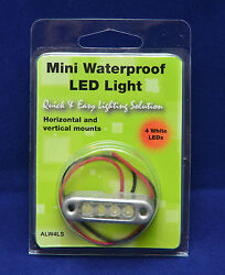 25x Alw4ls 12v Dc Mini Clear Ip67 Stainless Led Area Light 4led Marine Accent