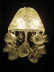 Hand-crafted Punch Bowl Chandelier Anchor Hocking