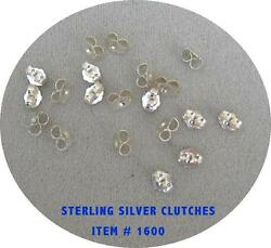 LIQUIDATION STERLING SILVER CLUTCHES Ear Backs Item #1600 SS $4.70