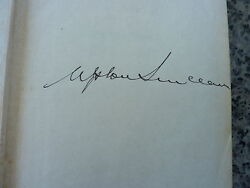 A World To Win By Upton Sinclair. Signed Privately Printed First Edition 1946