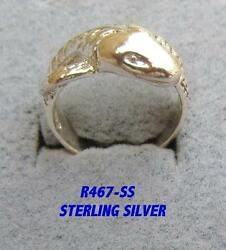Liquidation - Sterling Silver Snake Ring Style R467-ss