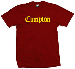 Compton Old English T Shirt Eazy E NWA Dr. Dre Straight Outta All Sizes Colors