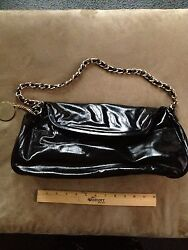 Charles David XL Clutch Casual Datenight Handbags Black Patent Leather $29.99