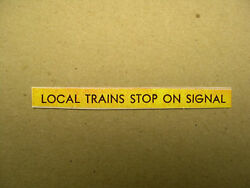 Local Trains Stop On Signal - American Flyer Station