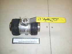 Nos Apollo 76-400 Series Double Union End Stainless Ball Valve 1-1/2 Butt-weld