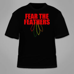 Fear The Feathers T-shirt. Blackhawks Chicago Kane Hossa Toews Stanley Cup Mvp