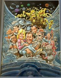 Jack Davis ORIGINAL WATER COLOR PAINTING - GALAXY QUEST CREW & CHARACTERS