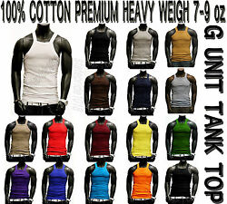 G-unit Style Heavy Weigh Tank Top Square Cut Wife Beater By The Basix 123pack