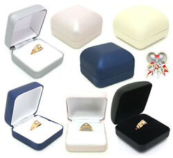 Artificial Leather Jewelry Case/velvet Ring Box/gift Package/12pcs24pcs/004005