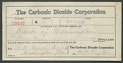 Carbonic Dioxide Corp==bank Of Washington== Jb Busch Brewing Co==st Louis==1908