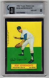 1964 Topps Stand Up Bob Aspromonte Gai 8 First Graded