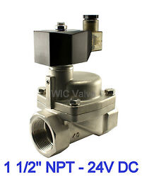 1.5 Inch High Pressure Stainless Steel Hot Water Steam Solenoid Valve Nc 24v Dc