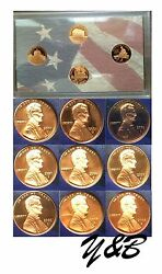 2000 S Thru 2009 S Lincoln Proof Cent Penny Complete Decade Run 13 Coins