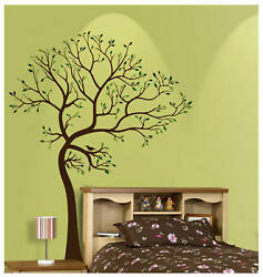 7FT LARGE TREE BROWN GREEN WALL DECAL Art Sticker Mural