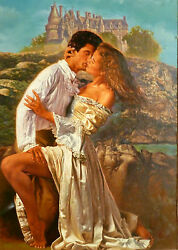 Original art titled Romancing in Time by Bradford Brown