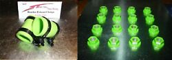 Banshee Lug Nuts And Exhaust Pipe Clamps Fmf,dg, Factory Green Dress Up Kit