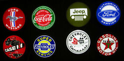 Wholesale Lot Of 8 Led Signs Ford Mustang Corvette Chevy Jeep Texaco Coke Neon