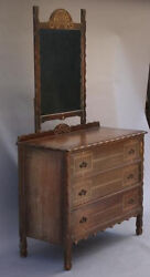 1930s Dresser W Mirror And Drawers Spanish Revival Rancho Monterey Antique 3748