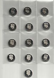 Complete 1992 - 2013 + 2014 S 90 Silver Proof Kennedy Half Dollar 23 Coin Set