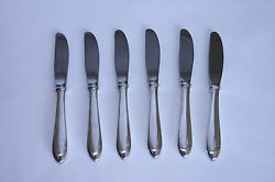 Towle R.s.v.p 6pc Sterling Silver Butter Knives