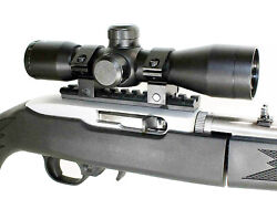 Trinity 4x32 Long Range Scope Mildot Reticle Black With Base For Ruger 10/22.