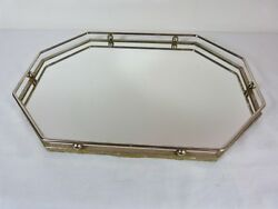 Octagonal Shaped Mirrored Table Lake Or Plateau By Unknown Maker