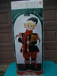 Vintage Store Display Animated Musical Elf Very Large 39 Tall A Must Have