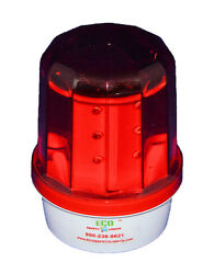 S18lmf 1nm Red Solar Led Flashing Beacon Marine Dock Barge Tower Crane Safety