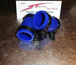 Yamaha Banshee Exhaust Pipe Clamps All Years Fmf,dg, Factory Blue