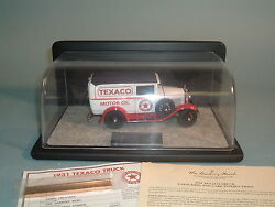 1931 Texaco Ford Panel Delivery Truck Danbury Mint Diecast 124 With Display