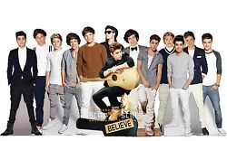 Justin Bieber And One Direction Lifesize Cardboard Cutout Standee Standup Cutouts