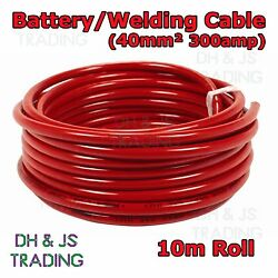 10m Red Battery Welding Cable 40mmandsup2 300a - Flexible Marine Boat Automotive Wire