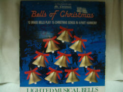 Mr Christmas Holiday Brass Bells 4 Part Harmony W/box Work Perfect 15 Songs