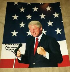 President Bill Clinton Signed Autographed 8x10 Photo - Rare