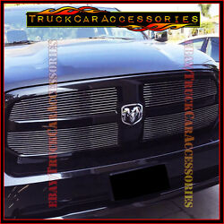 For Dodge Ram 1500 2013 14 15 2016 2017 Polished 4pc Upper Main Overlay Grilles
