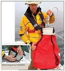 Small Shark Storm Drogue Sea Anchor By Fiorentino 4 Steering Safety Slow Drift