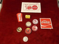 Mixed Lot Of Old Vtg Soda Bottle Caps, Coke Whistle, Patch, Advertisement, Pepsi