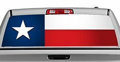 Truck Rear Window Decal Graphic [flags / Texas Flag Straight] 20x65in Dc83509