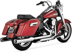 Vance & Hines Monster Duals Chrome Exhaust For 2012-2014 Harley Switchback FLD