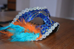 Decorated Blue Masquerade Masks