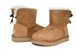 UGG Women's Mini Bailey Bow Boots II 1016501 Chestnut Sz 5-11 NEW