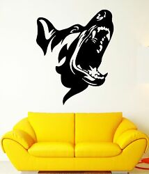 Angry Dog Wall Stickers Patrol Animal Security Pet Vinyl Decal ig707
