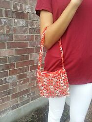Handmade Crochet Body Bags With Soda Can Tabs